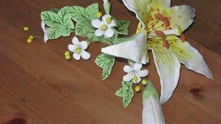 Часть1 Как изготовить из мастики цветочную композицию с лилией(Как приготовить? || цветочная композиция из сахарной мастики Это первая часть серии видео, где я буду поэтап..., 2015-09-21T06:25:23.000Z)