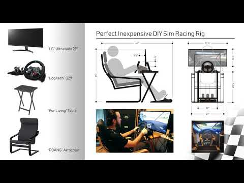 Perfect Inexpensive DIY Sim Racing Rig (Under 900$)