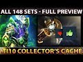 The International 10 Collector's Cache Battle Pass - ALL 148 Sets Preview Dota 2