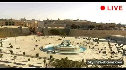 Live Webcam of the Triton Fountain in Floriana - Malta