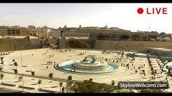 Live Webcam of the Triton Fountain in Floriana - Malta
