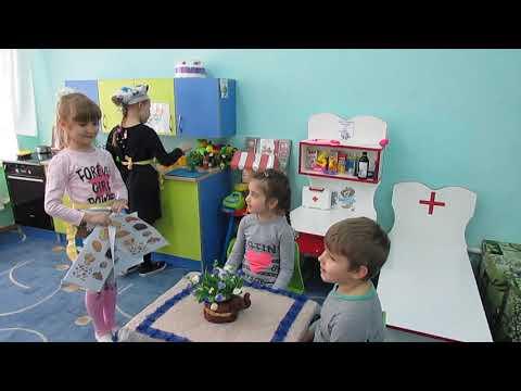 Фрагмент сюжетно ролевой игры Кафе подготовительная группа 9 воспитатель Кобецкая Ю В
