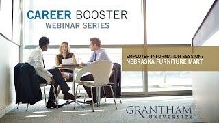 Career Booster Webinar - Employer Information Session:  Nebraska Furniture Mart