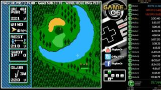 NES Open Tournament Golf - U.K. Course World Record 10:16.21