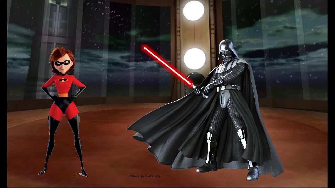 Download Elastigirl is met by Darth Vader