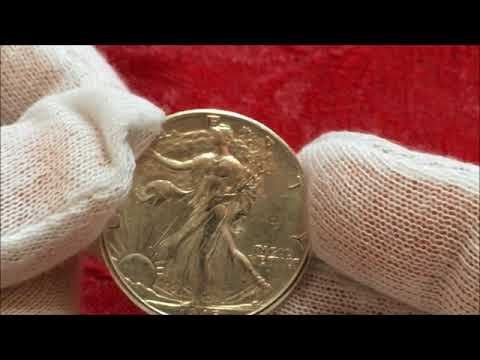 LIVE OPENING OF APMEX ROLL OF VALUABLE AU WALKING LIBERTY HALF DOLLARS WE FIND A RARE VARIETY TOO!!
