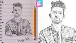 PicsArt Editing Tutorial   Fan Made Sketch Effect   PicsArt best editing 2018