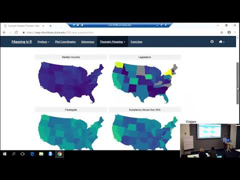 Mapping With R -- Lat/long, Interactive Basemaps, And Choropleths