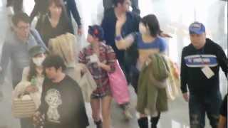 AKB48山内鈴蘭、片山陽加、藤江れいな離開松山機場回日本.