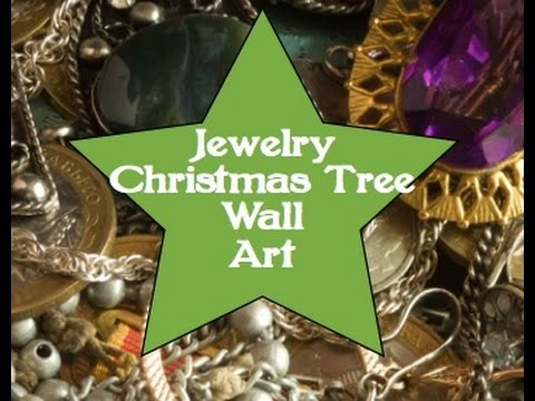 Jewelry Christmas Tree Wall Art Youtube