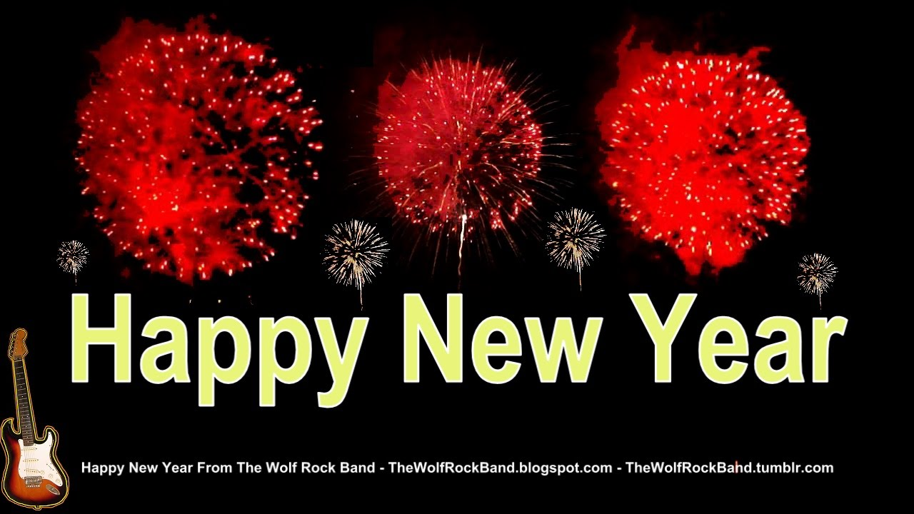 happy new year song fireworks remix happy new year card yes we will we will rock you