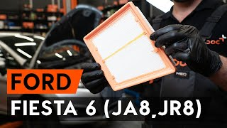 Watch the video guide on FORD FIESTA VI Air Filter replacement