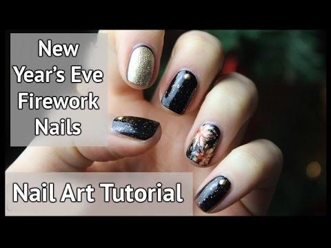 New Year's Eve Nail Art Tutorial - Fireworks   xameliax