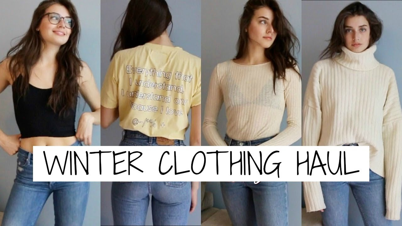 b2b4b549ce Winter Clothing Haul + Try Ons 2017