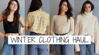 Winter Clothing Haul + Try Ons 2017 | Jessica Clements