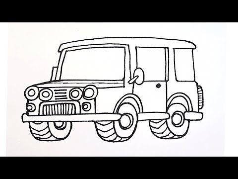 How To Draw An Army Car Military Vehicles Draw For Beginners Easy Drawing Tutorial Youtube