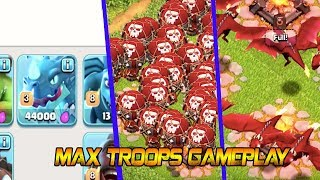 MEGA DRAGON||ALL MAX TROOPS GAMEPLAY CLASH OF CLANS 2018 JUNE TH12 UPDATE