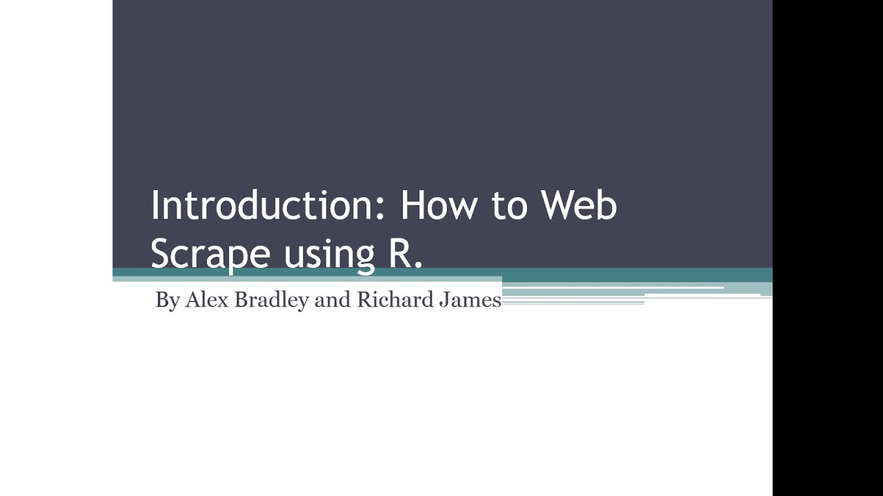 Introduction to webscraping video