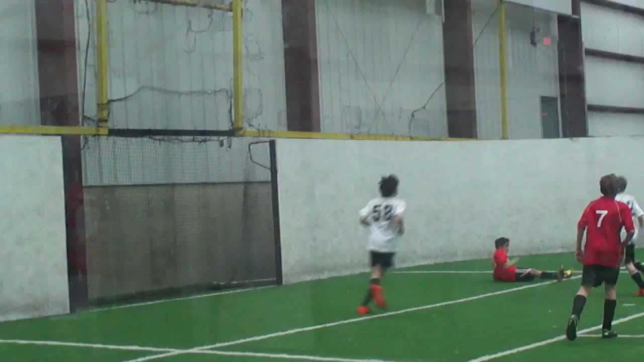 Amazing soccer Goal by a 13 year old Indoor Season - YouTube