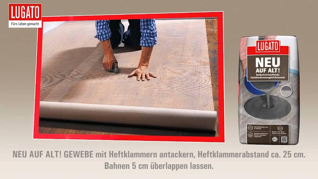 anleitung holzboden ausgleichen und renovieren mit lugato. Black Bedroom Furniture Sets. Home Design Ideas
