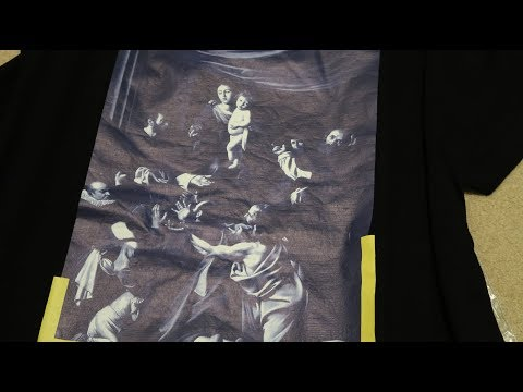 Off-White Diagonal Caravaggio Tee Pickup/Unboxing