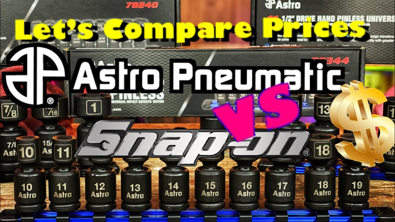 Astro Pneumatic Universal Impact Sockets VS Snap On Universal Impact Sockets Price Comparison