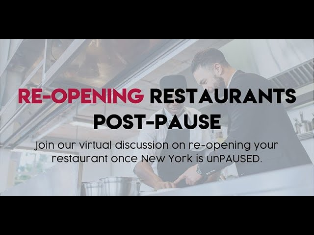Watch: Capital Region Virtual Panel On Reopening Your Restaurant