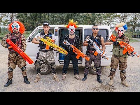 LTT Films : Special Police Seal XXx Nerf Guns Fight Criminal Group Tiger Mask Nerf War