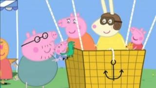 Świnka Peppa: biuro taty świnki, wyspa piratów, george się przeziębił, lot balonem, urodziny georga.