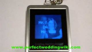 Electronic Keychain Photo Table Card