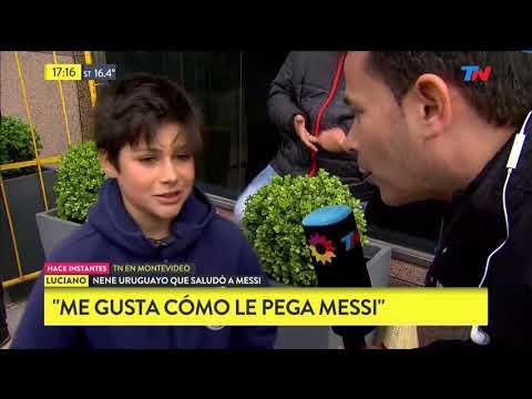 El nene uruguayo que pudo sacarse la foto con Messi