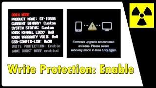 Write Protection Enable - TODOS aparelhos SAMSUNG (solução) | Firmware Upgrade Encountered