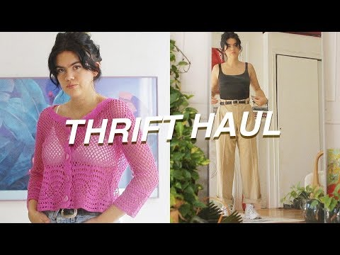 TRY ON THRIFT HAUL and mini lookbook