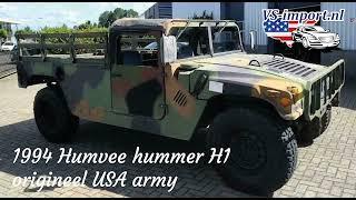 1994 HUMVEE hummer H1 origineel USA army   VS-import.nl