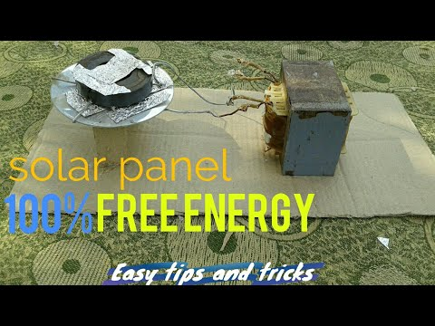 How to make solar panel || solar cell|| generate free energy at home