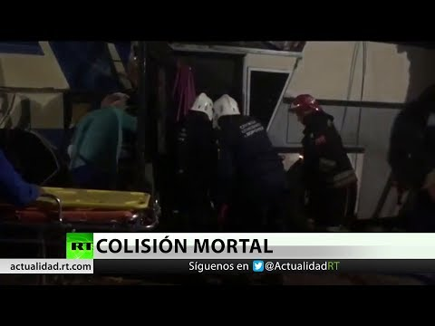RT en Español: El choque de dos autobuses en Rusia central deja al menos cinco muertos