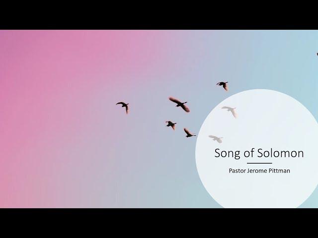 Song of Solomon · 210513 Bible Study · Pastor Jerome Pittman