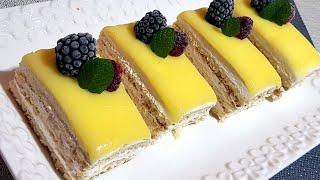 لي طرونش بنكهة الحامض لذة لا تقاوم و بطريقة جد بسيطة les tranches  pâtissier au citron