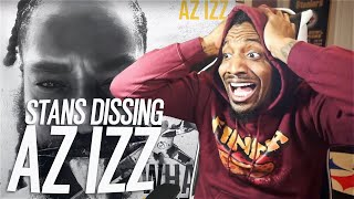 REACTING TO STANS DISS TRACKS TO AZ IZZ! THIS IS WHY EMINEM DOESNT HAVE TO RESPOND!