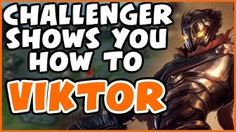 CHALLENGER SHOWS YOU HOW TO VIKTOR | DESTROYING SNEAKY | 25 KDA | Preseason 10 - League of Legends