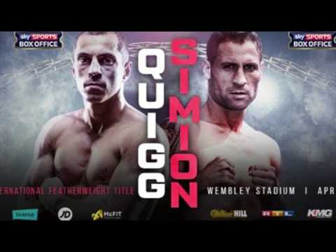 SCOTT QUIGG V VIOREL SIMION CONFIRMED AS IBF ELIMINATOR