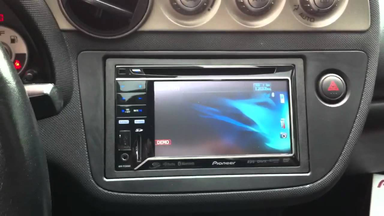 2004 acura rsx pioneer avh p3300bt double din radio. Black Bedroom Furniture Sets. Home Design Ideas