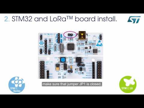 Getting started STM32 Nucleo Pack for LoRa™ technology