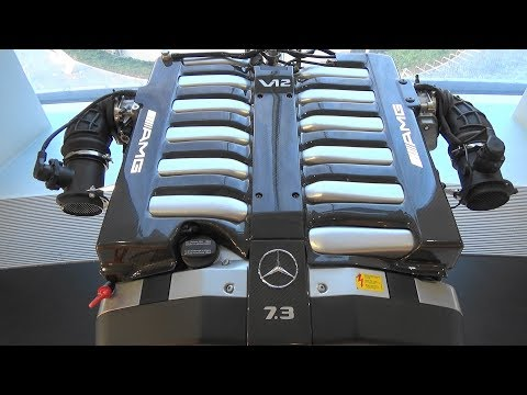 7.3 L V12 Naturally Aspirated Engine (M120)  - 50 Years Of AMG - Mercedes-Benz Museum Stuttgart