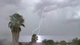 Monsoon 2015 - July 28, Tucson Arizona.  The monsoon returns with heavy rain in SW Tucson.