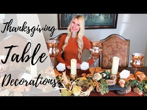 THANKSGIVING TABLE DECORATIONS | CENTERPIECE FOR THANKSGIVING