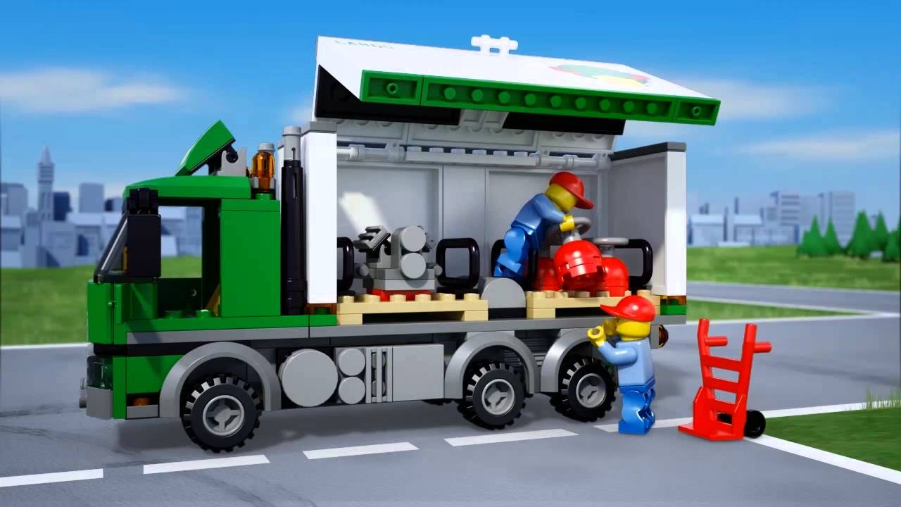 Lego city 60020 cami n de carga youtube - Lego city police camion ...