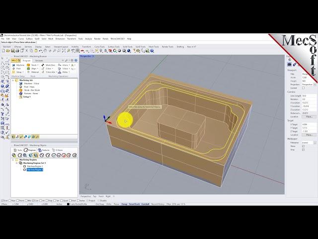 RhinoCAM 2021: Introduction to 2½ Machining