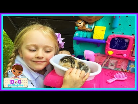 Baby Kitten Checkup Doc Mcstuffins Vet Clinic Center Real Life Cute Baby Kittens W/ Play Doh Girl