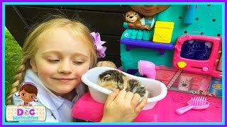 Baby Kitten Checkup Doc Mcstuffins Vet Clinic Center Real Life Cute Baby Kittens W/ Play Doh Girl thumbnail